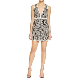 Rachel Zoe Womens Casual Dress Jacquard Floral Print - 4