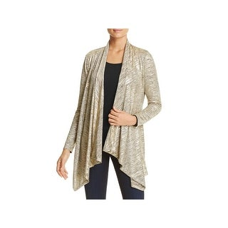 Calvin Klein Womens Cardigan Top Metallic Flyaway