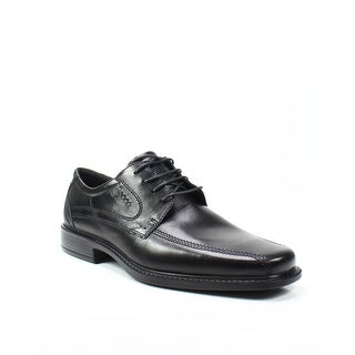 ECCO NEW Black Men Size 12/12.5M NewJersey Bicycle Toe Leather Oxfords