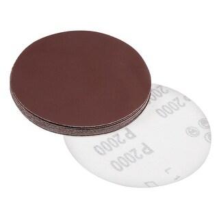 5-Inch Sanding Disc 2000 Grits Aluminum Oxide Flocking Back Sandpapers 10 Pcs - 2000 Grits