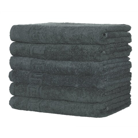 "Context 6-Pack Hand-Face Towel Super Soft 16"" x 28"" - Gray"