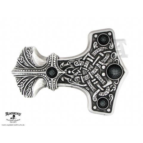 Alchemy Gothic Thunder Hammer Buckle - 3.03 X 4.45 X 0.43 inches
