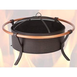 Fire Sense 60859 Copper Rail Fire Pit - Black