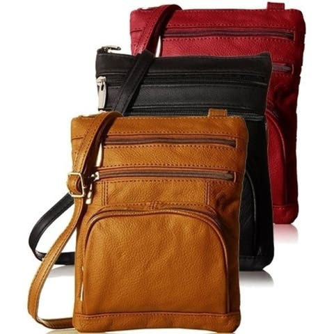 Ultra-Soft Genuine Leather Crossbody Bag, Available in 9 Colors
