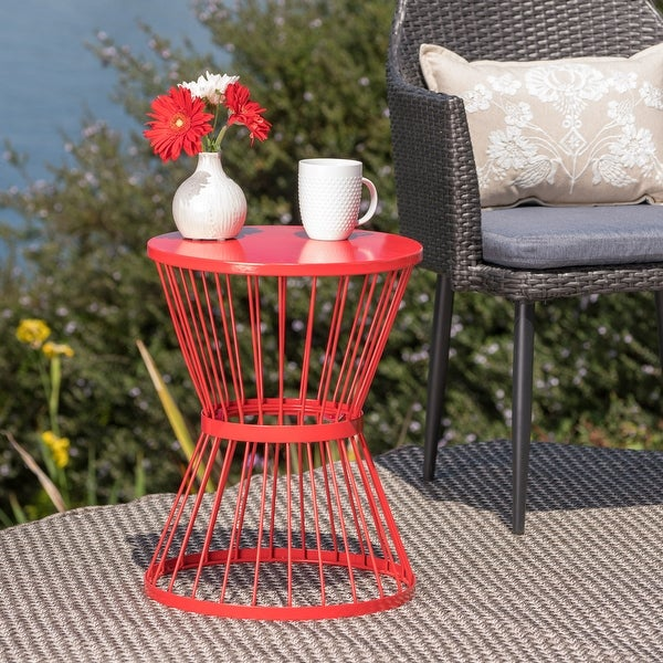Lassen Hand-crafted Round Iron Side Table by Christopher Knight Home. Opens flyout.