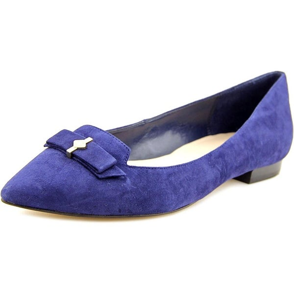 Cole Haan Saville Skimmer Women  Pointed Toe Suede Blue Flats