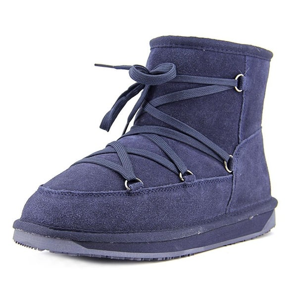 BooRoo Ainsley Women Round Toe Suede Blue Winter Boot