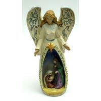 Nativity Angel w Lighted Star