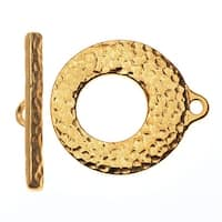 TierraCast Maker's Collection, Artisan Toggle Clasp Set, 22K Gold Plated