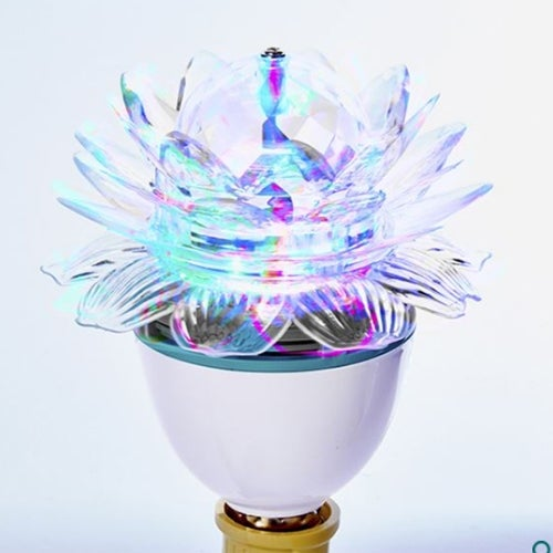 Kurt Adler D3063 Lotus LED Color Rotating Disco Lamp