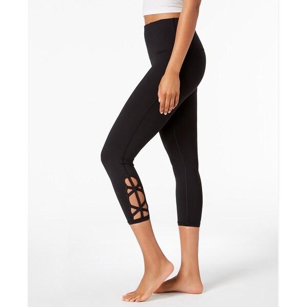 Shop Gaiam Women s Om High-Rise Cutout Capri Yoga Leggings Black Small - s  (4 - 6) - Free Shipping On Orders Over  45 - Overstock - 23033169 ae4c3355efc