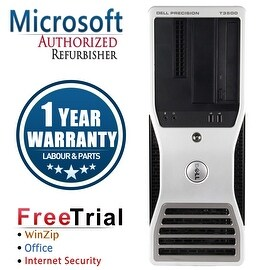 Refurbished Dell Precision T3500 Tower Xeon W3530 2.8G 4G DDR3 500G DVD NVS295 Win 10 Pro 1 Year Warranty