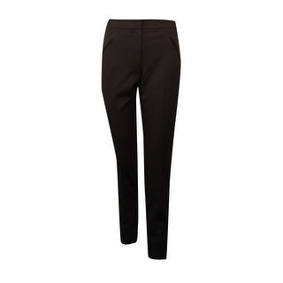 Tahari Women's Amiee Faux Pockets Slim Dress Pants