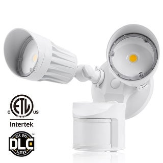 LEONLITE 20W Motion-Activated LED Outdoor Security Light, White