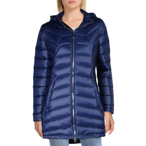 Spyder Womens Syrround Puffer Coat Quilted Mid-Length - Blue Depths/Blue Depths