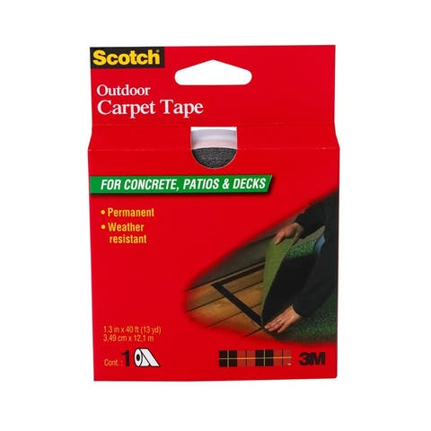 "Scotch CT3010 Outdoor Carpet Tape for Concrete Patios & Decks, 1-3/8"" x 40'"