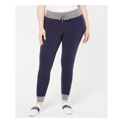 TOMMY HILFIGER Womens Navy Printed Skinny Pants Size 0X