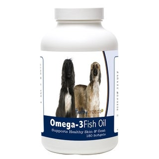 Healthy Breeds Afghan Hound Omega-3 Fish Oil Softgels