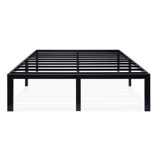 Link to Sleeplanner Black Metal 16-inch Platform Bed Frame Similar Items in Bedroom Furniture