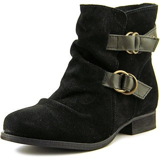 Skechers Low Double Strap Round Toe Suede Ankle Boot