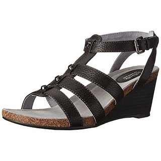 SoftWalk Womens Jacksonville Wedges Leather Studded