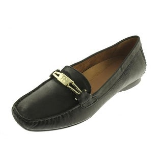 Naturalizer Womens Saturday Leather Moc Toe Loafers