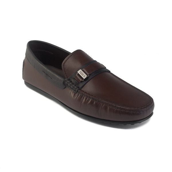 7bad19afbb8 Shop Tod's Men's Leather Gommino Penny Loafer Driving Shoes Brown ...