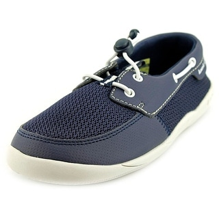 Kamik Abroad Youth Moc Toe Synthetic Boat Shoe