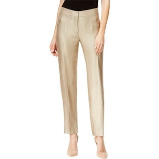 Kasper Womens Kristy Dress Pants Metallic Flat Front