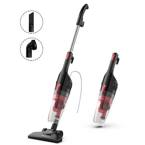 Costway 6-in-1 Handheld Stick Vacuum Cleaner 600W Corded w/ 16KPa - 9'' x 5'' x 44.5''