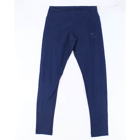 Reebok Womens Leggings Deep Blue Size Small S Low-Rise Stretch Solid