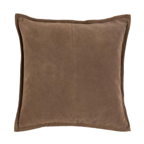"Falcon Suede 20"" Throw Pillow by Kosas Home"