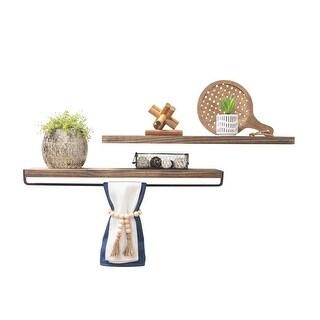 Link to Del Hutson Designs Handmade True Floating Shelf and Towel Rack Set Similar Items in Bathroom Furniture