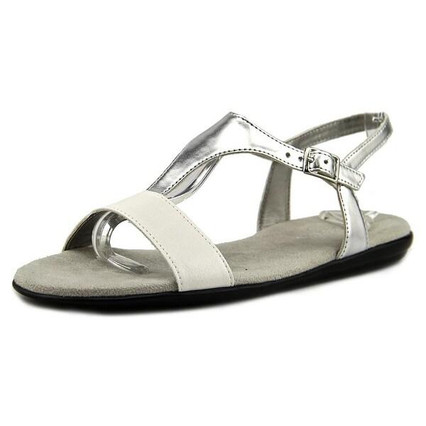 Aerosoles World Chlass Women White Silver Sandals