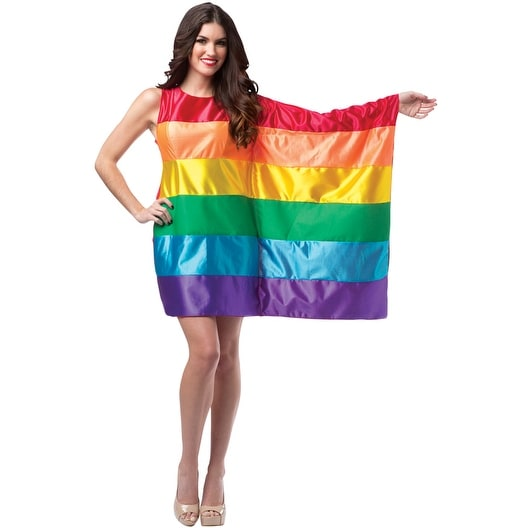 Rasta Imposta Rainbow Flag Dress Adult Costume - Solid - one-size