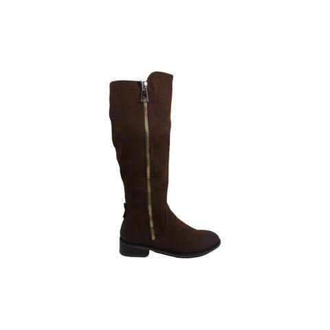 Steve Madden Womens Rhapsody Fabric Almond Toe Knee High Riding Boots