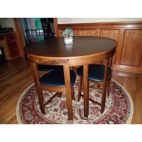 Simple Living 5 Piece Tobey Compact Round Dining Set   Free Shipping Today    Overstock.com   18568672