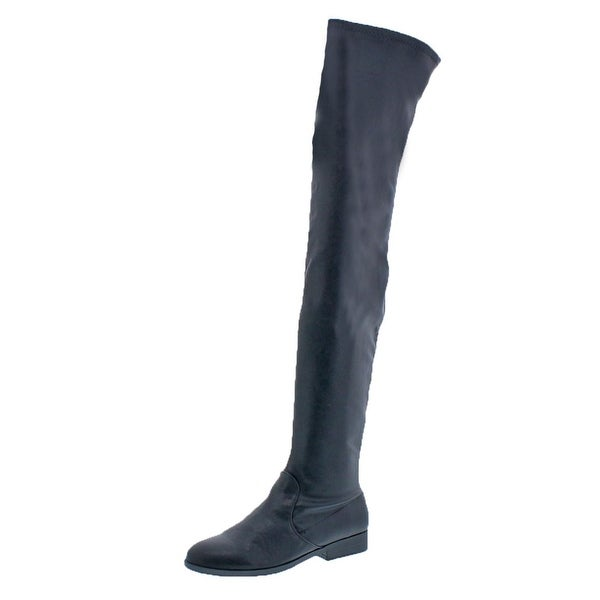 L4L by Lust for Life Womens Racy Over-The-Knee Boots Leather Zipper