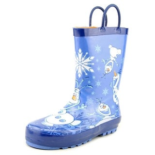Western Chief Frozen Warm Hugs Toddler Round Toe Synthetic Blue Rain Boot