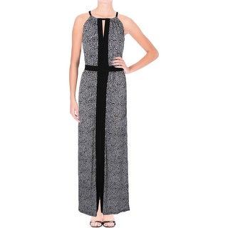 MICHAEL Michael Kors Womens Maxi Dress Matte Jersey Pattern - l