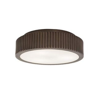 """Norwell Lighting 5650 Roseau 2 Light 13"""" Wide Flush Mount Ceiling Fixture with Matte Opal Shades"""