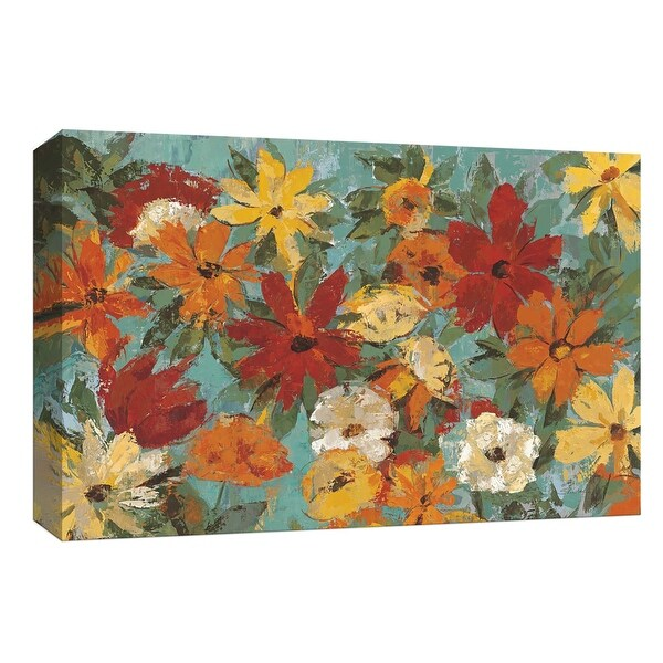 """PTM Images 9-153623 PTM Canvas Collection 8"""" x 10"""" - """"Bright Expressive Garden"""" Giclee Flowers Art Print on Canvas"""