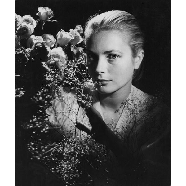 249b4054f3 Grace Kelly Behind Flowers Photo Print
