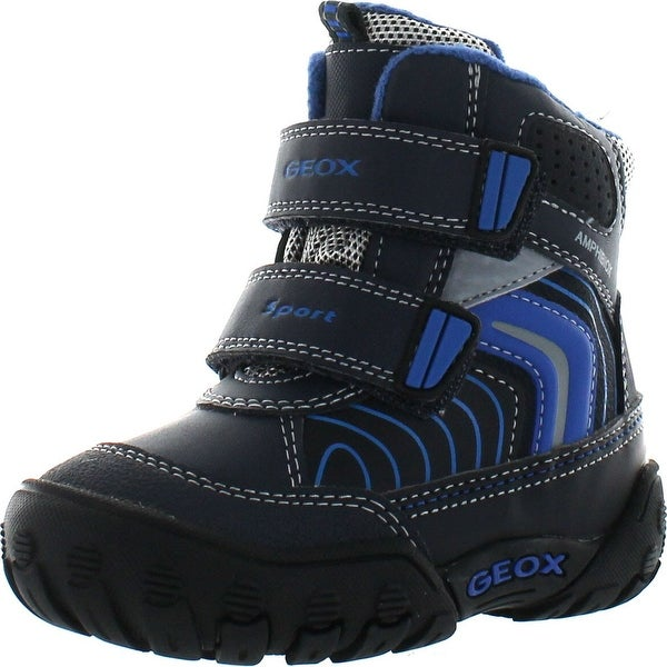 Geox Boys Gulp Boy Waterproof Winter Fashion Snow Boots - dark navy/royal
