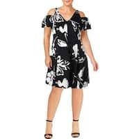 Lauren Ralph Lauren Womens Party Dress Cold Shoulder Floral Print