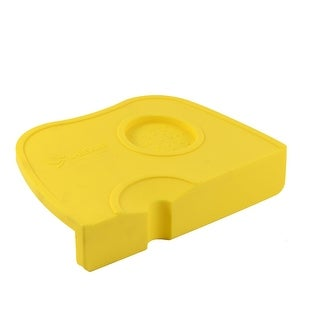 Tamping Corner Mat Coffee Latte Art Pen Tamper Press Holder Pad Yellow