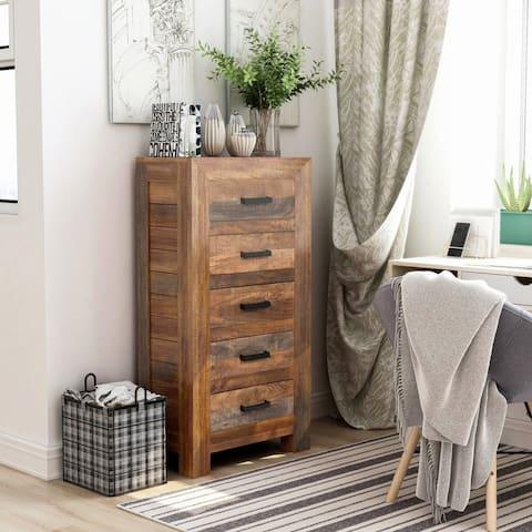 Furniture of America Anaisha Solid Mango Wood Chest