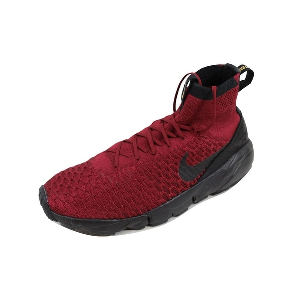 Nike Men's Air Footscape Magista Flyknit FC Team Red/Black-Team Red 830600-600 Size 11