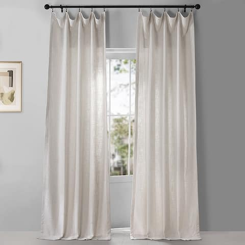Exclusive Fabrics Belgian Heavy Faux Linen Curtain