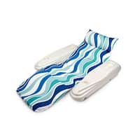 Rio Sun Blue Currents Adjustable Floating Swimming Pool Chaise Lounge - Green